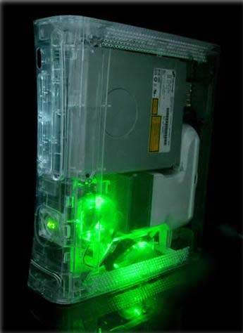 core cooler green led mod xbox360