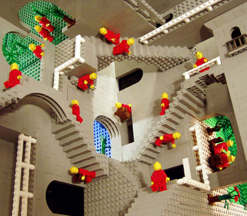 Eschers Relativity in LEGO