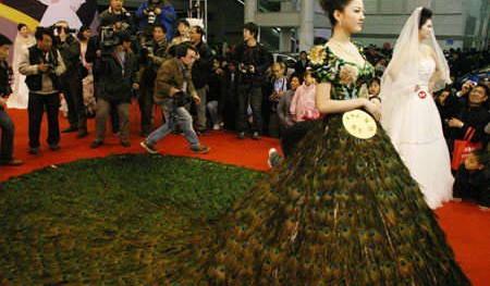 $1.5 Million Peacock Wedding Dress