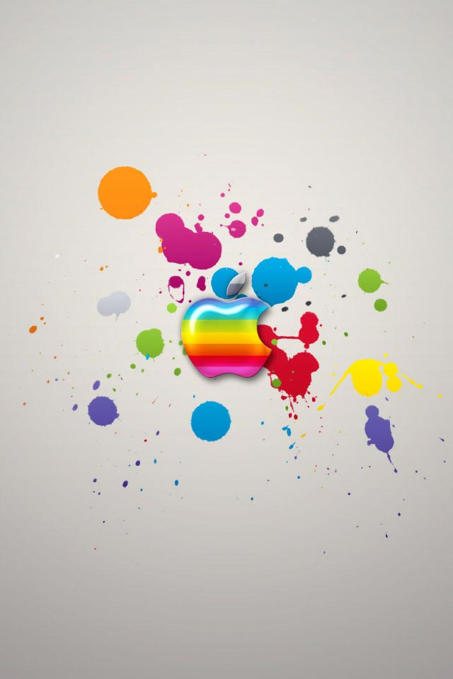 apple colors iphone 4 wallpaper