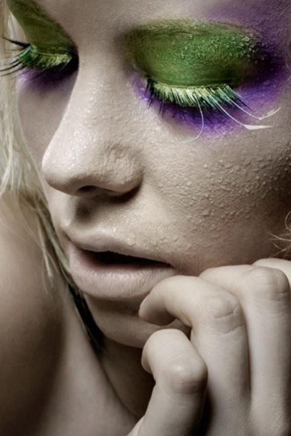 colorful eyelids