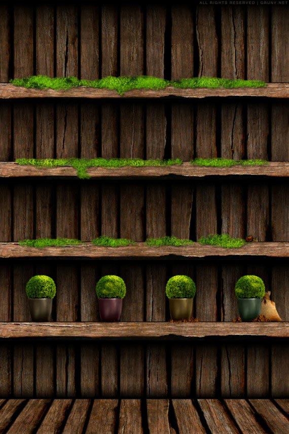 grass bookshelf iphone wallpaper