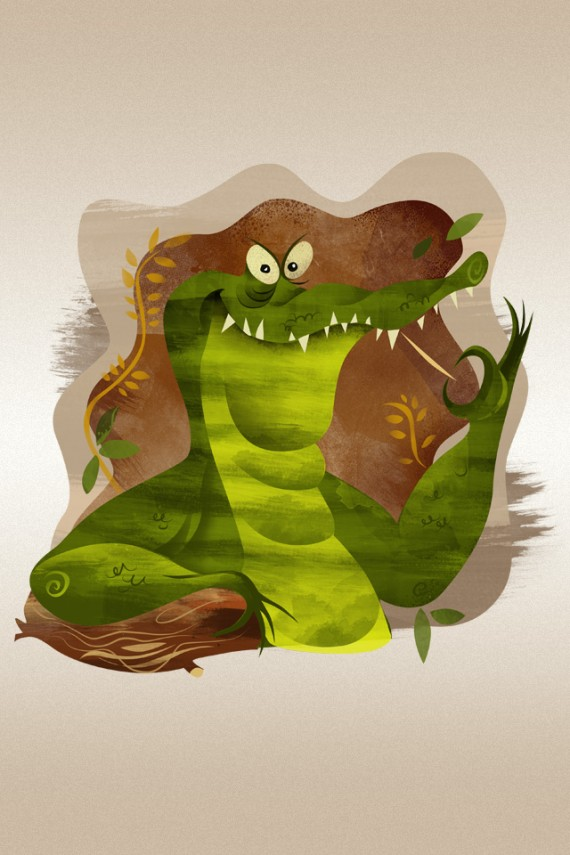 iphone4 crocodile wallpaper