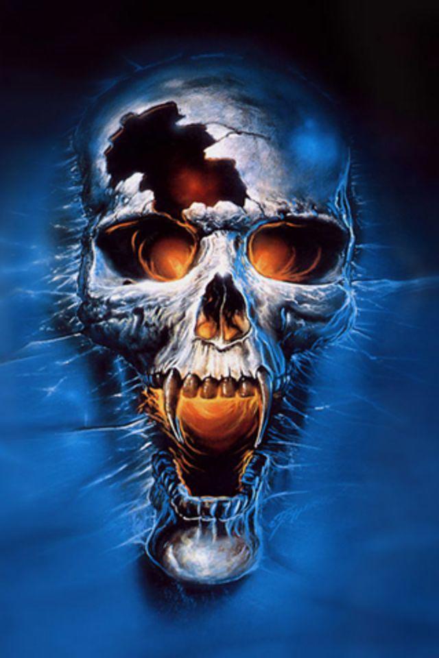 Skull HD Ghost Rider Cubes Retina Wallpaper