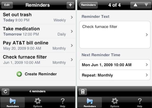 iphone textminder