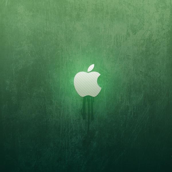 ipad wallpaper green apple