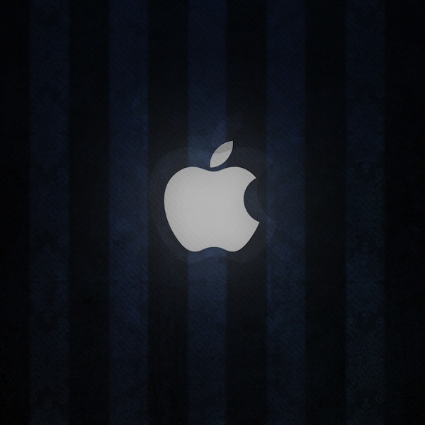 ipad wallpaper blue apple by martz90