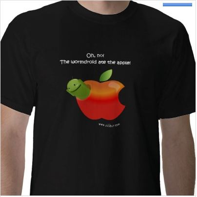 Android Worm T-shirt