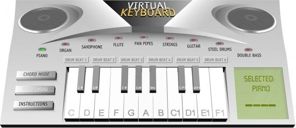 Virtual Piano For You To Play Music At Chadwell