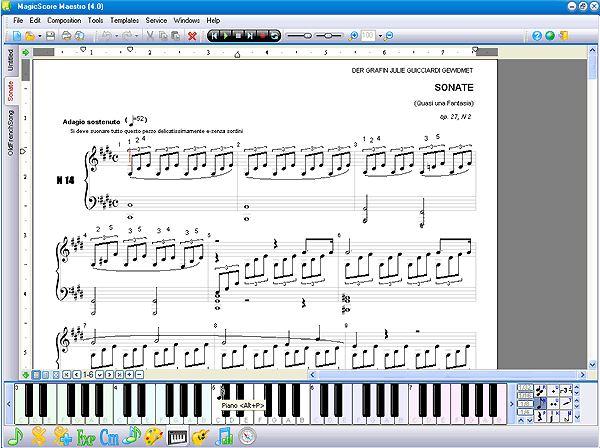 MagicScore Virtual Piano Keyboard