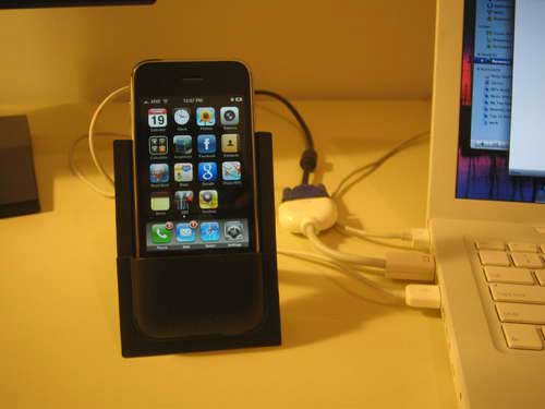 Packaging Stand-cum-iPhone Dock