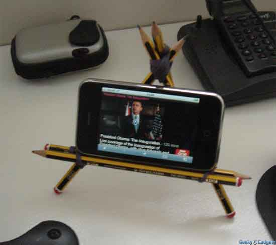 Pencil iPhone Stand