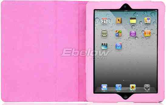 Pink Leather Case Flip Stand