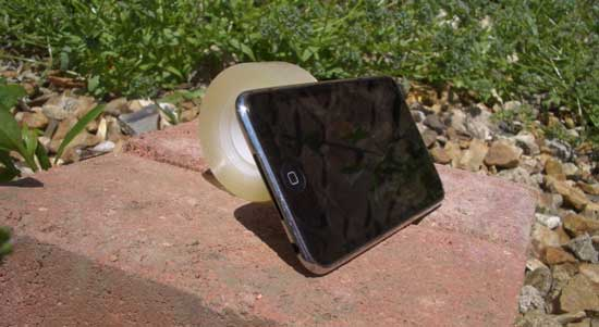Sticky Tape iPhone Stand