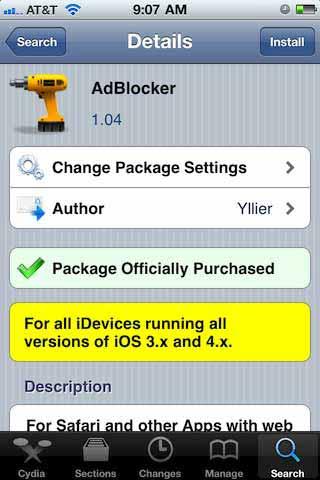 Adblocker Cydia App