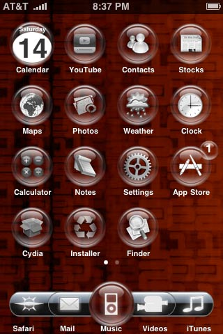 Glass Orb Winterboard Theme