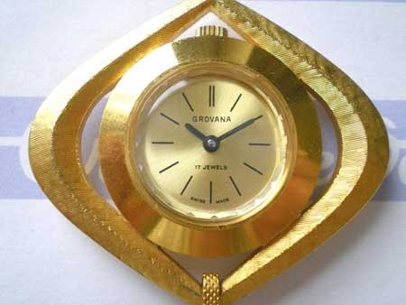 Grovana Seventies Gold Strapless Watch