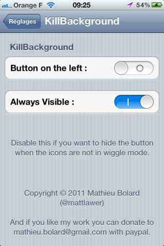 Kill Backgroud Cydia App
