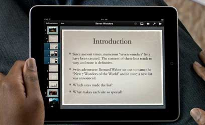 Keynote app for iPad