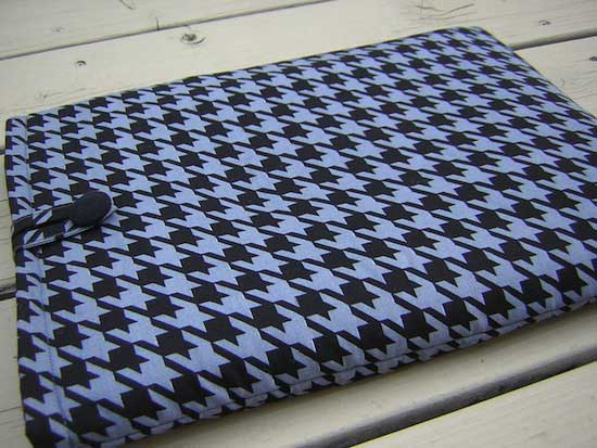 Blue Houndstooth padded