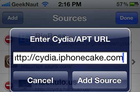 iphone cake source cydia