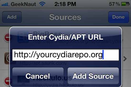 your cydia source