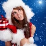 She is Santa HTC Desire Wallpapers