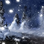 HTC Desire Wallpapers Snow and trees