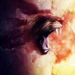 HTC Desire Wallpapers Space-lion