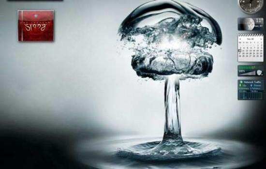 Water bomb Windows 7 Theme