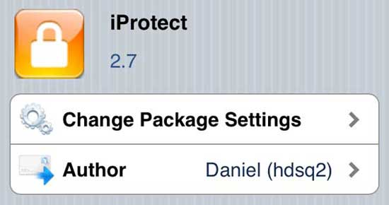 iProtect Tweak for Cydia