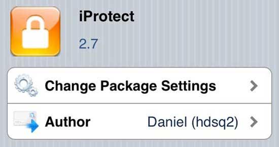 iProtect Tweak for Cydia
