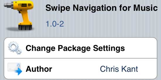 Swipe for Music Cydia Tweak