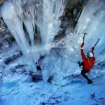 HTC Desire ice climb wall