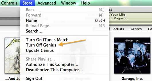Turn iTunes Genius Off