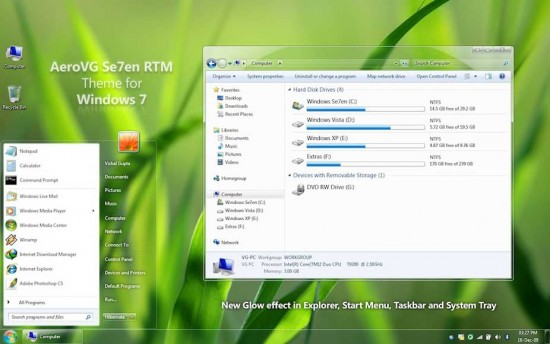 windows 7 theme aerovg
