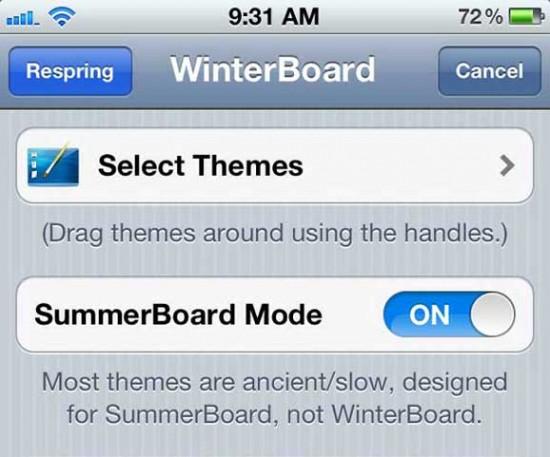 Cydia Apps Winterboard