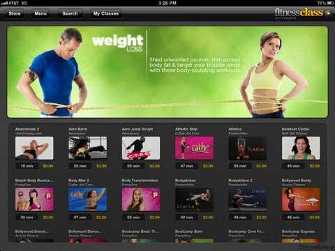 FitnessClass ipad app
