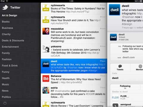Twitter iPad App