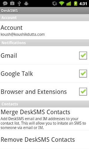 Desk SMS