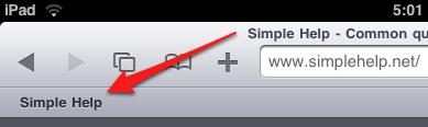 Add and enable bookmarks to Safari Bookmark bar on iPad