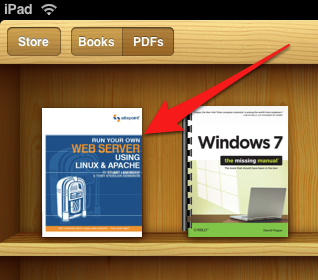 Add PDF file from DropBox to iBooks