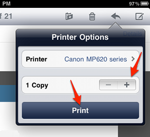 Print from your iPad