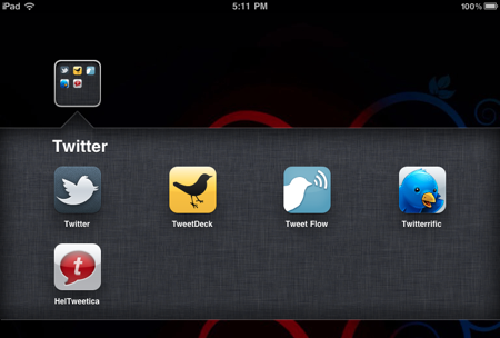 Rename iPad folders
