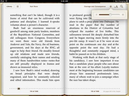 Dim Backlight in iBooks