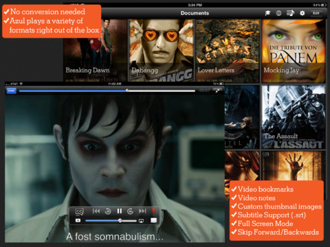 Azul Media Player for iPad