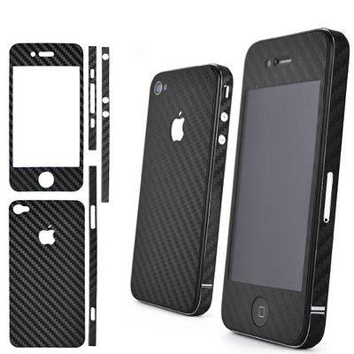 Black Carbon fiber Skin