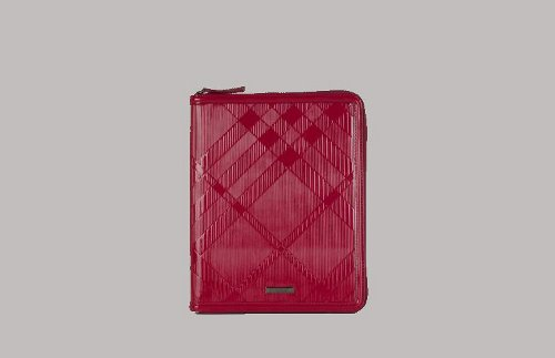 Burberry Patent Check-Embossed Leather iPad Case Cover