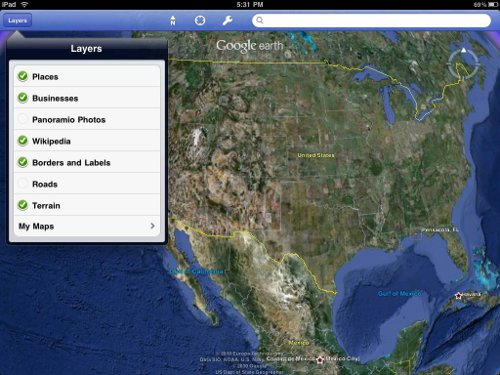Google earth for New iPad