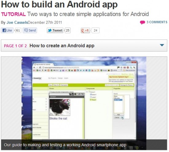 How to write android application tutorial
